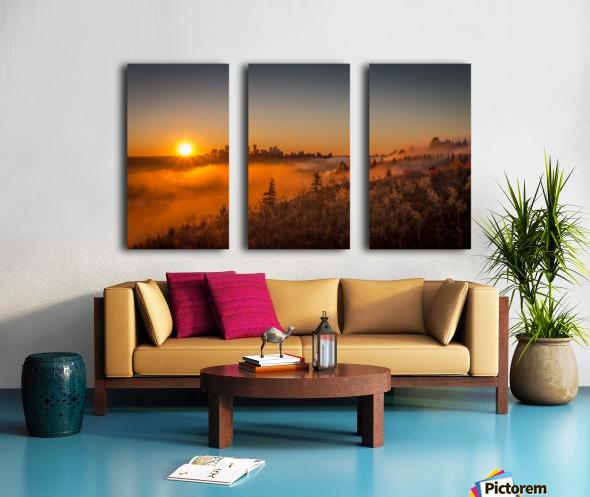 Calgary Sunrise Split Canvas print
