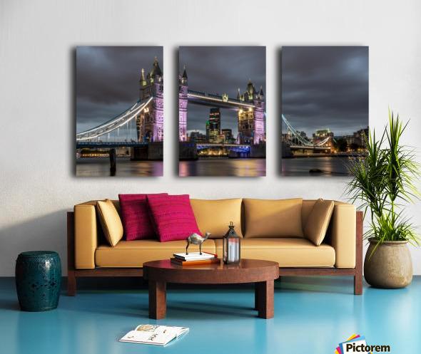 Tower Bridge at Night Split Canvas print
