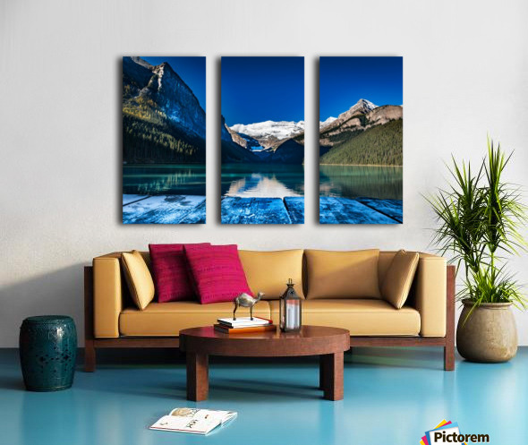 Lake Louise Dock Split Canvas print