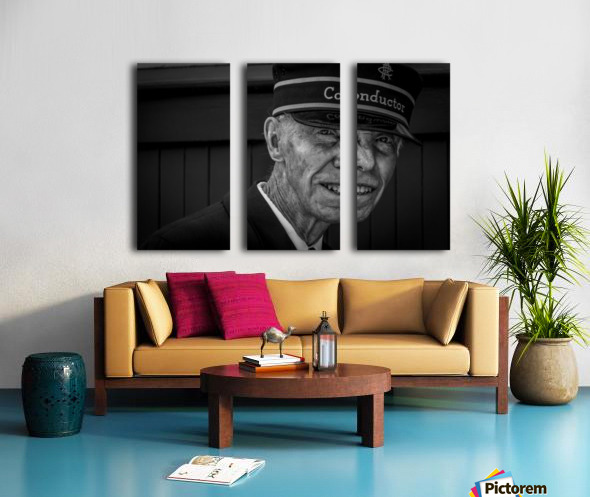 Conductor Split Canvas print