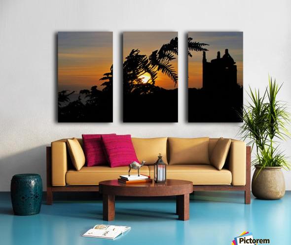 Fern castle sunset Split Canvas print