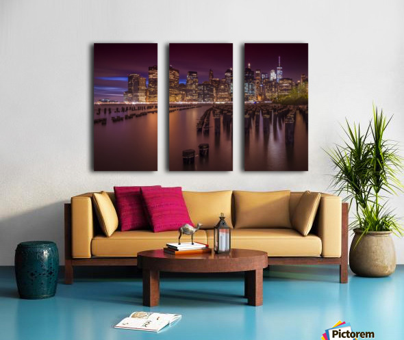 Manhattan Skyline at Sunset  Split Canvas print