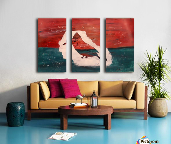 It only takes one bird Split Canvas print