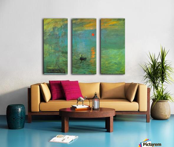 Sunrise by Monet Split Canvas print