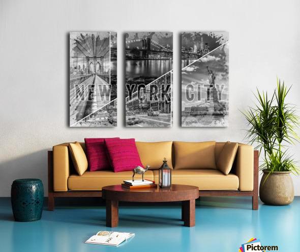 NEW YORK CITY Urban Collage No. 2 Split Canvas print