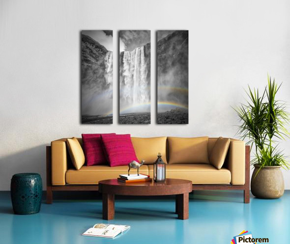 ICELAND Skogafoss Split Canvas print