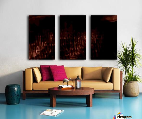 19 Split Canvas print