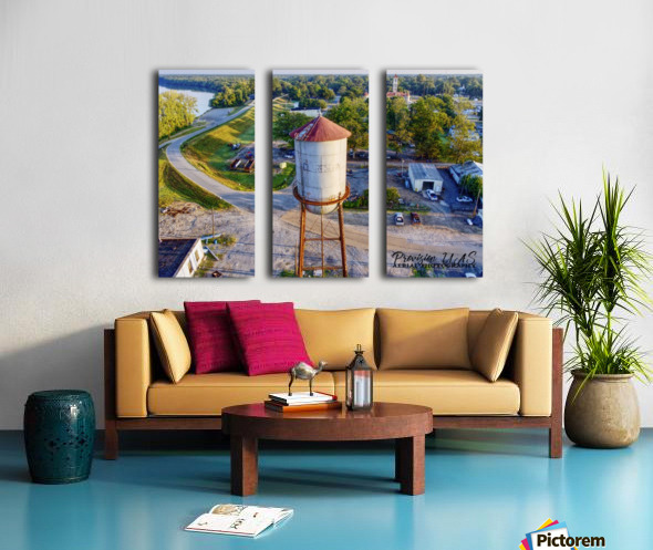 Clarendon, AR | Water Tower Split Canvas print