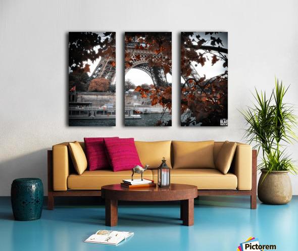 Autumn in Paris Split Canvas print