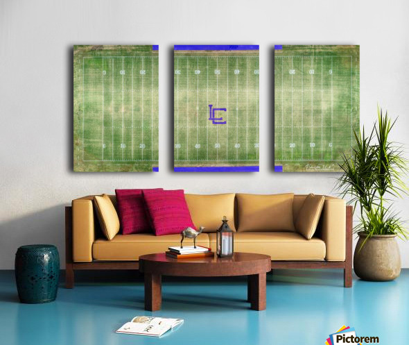 Lawrenceburg, TN | Wildcats Football Field Split Canvas print