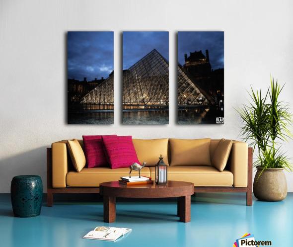 Le Louvre Pyramid Split Canvas print