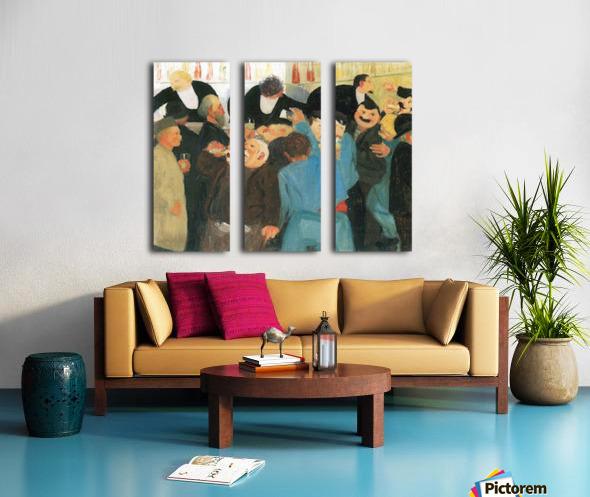 The bistro by Felix Vallotton Split Canvas print