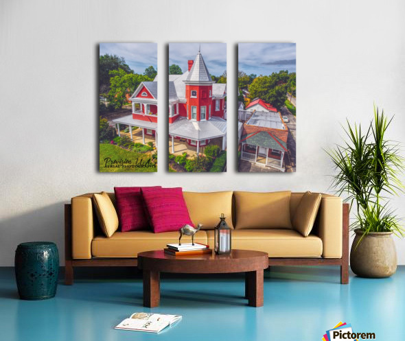 Lawrenceburg, TN   The Garrett House Split Canvas print