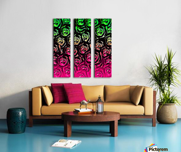 rose pattern texture abstract background in pink and green Split Canvas print