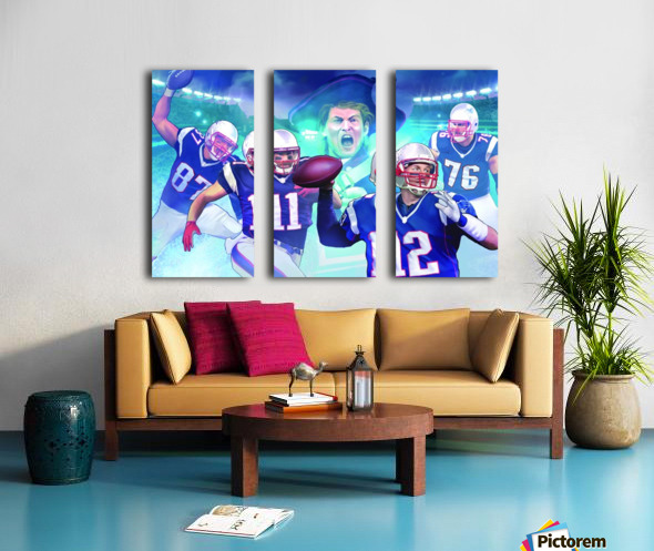 PATRIOTS Football Split Canvas print