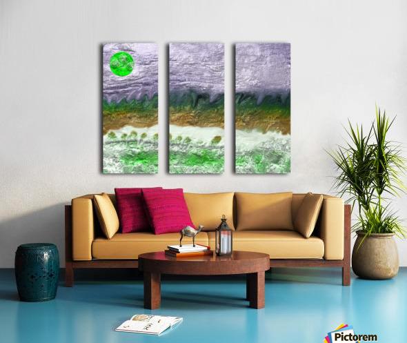 Landscape with Moon 0620 Split Canvas print