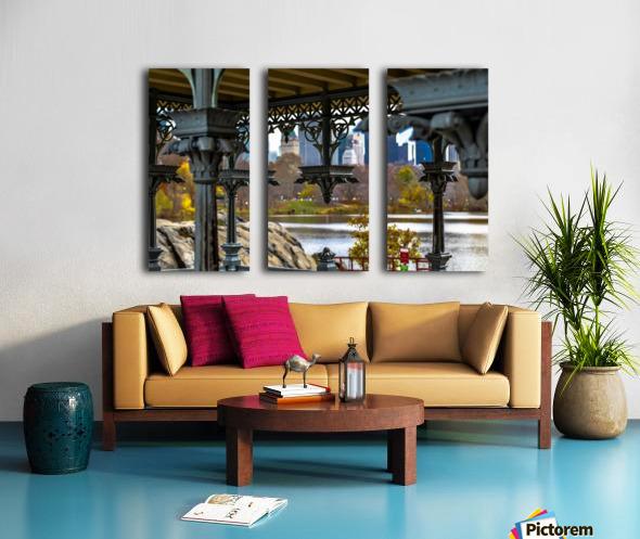 Inside Gazebo Central Park  Split Canvas print