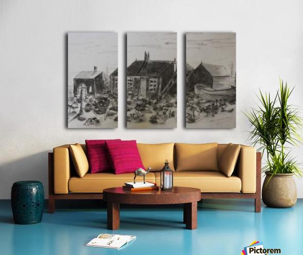 Romney Marsh  Split Canvas print