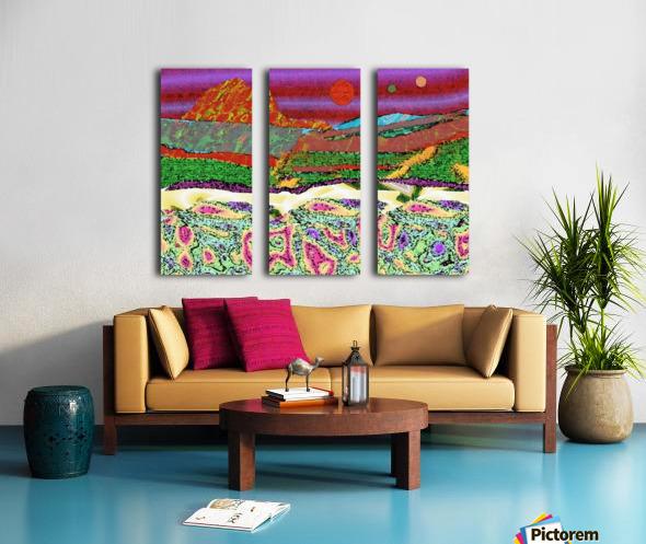 Mountainscape 0625 Split Canvas print