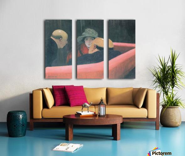 The chaste Susanne by Felix Vallotton Split Canvas print