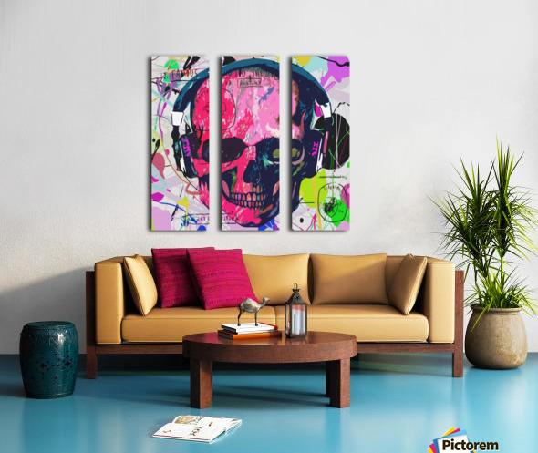 Music Anatomy Split Canvas print
