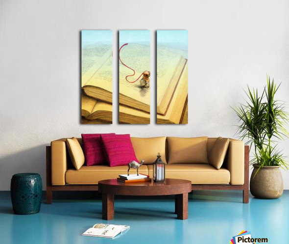 deeper Split Canvas print