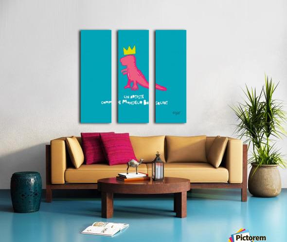 BASQUIAT Split Canvas print