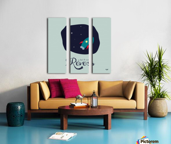 AU BOUT DES REVES Split Canvas print