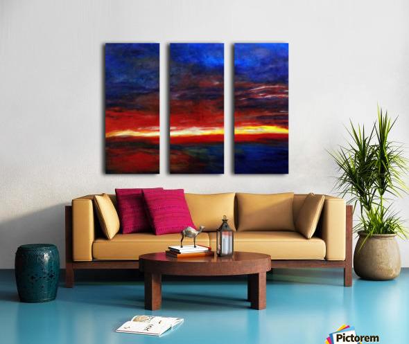 Aries Fire Split Canvas print