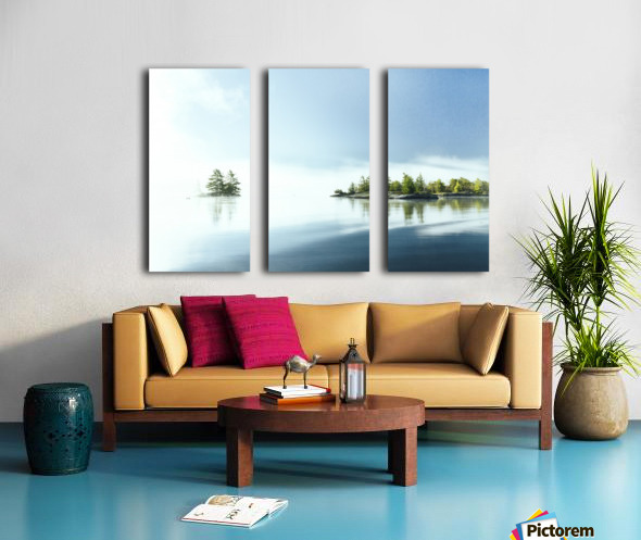 Blue water Split Canvas print