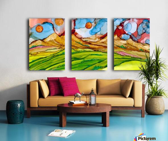 Three Suns Split Canvas print
