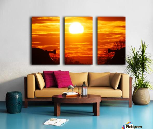 Train horn sunset Split Canvas print