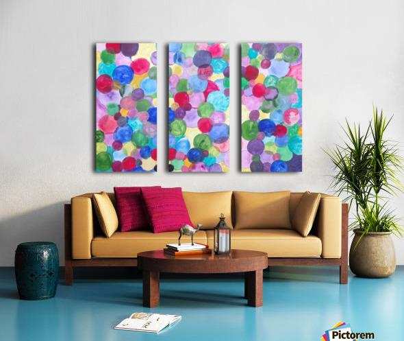 Colored Balls. Split Canvas print