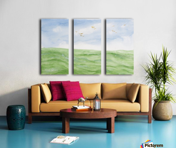 Birds over the ocean. Split Canvas print