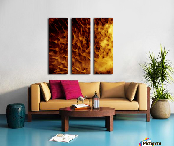 CURIOSITY - ORANGE Split Canvas print