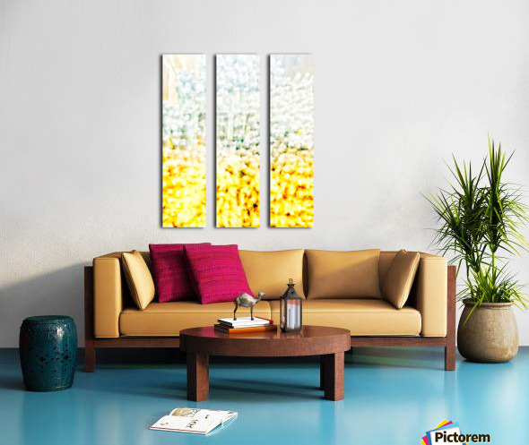 BURST - YELLOW & WHITE Split Canvas print