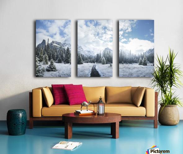 Mountain World Split Canvas print