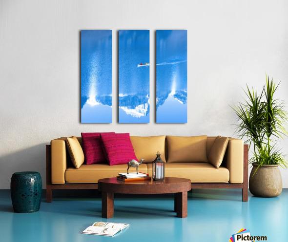 Icy blue  Split Canvas print