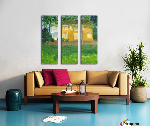 Unoccupied Estate. Split Canvas print