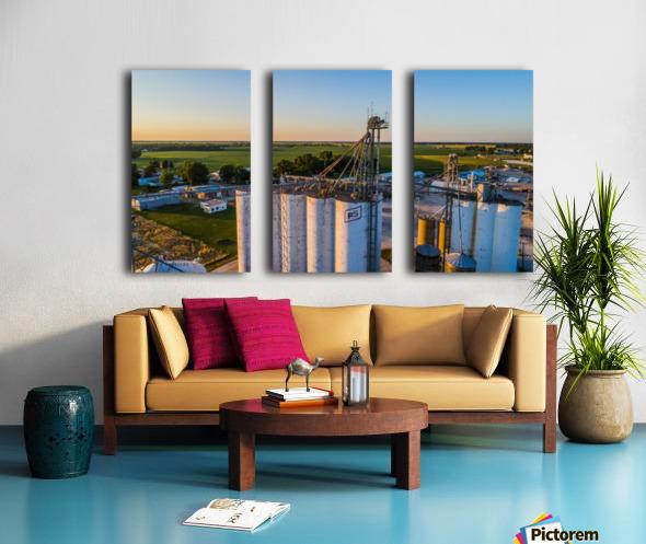 Schuyler County, IL FS Towers Split Canvas print