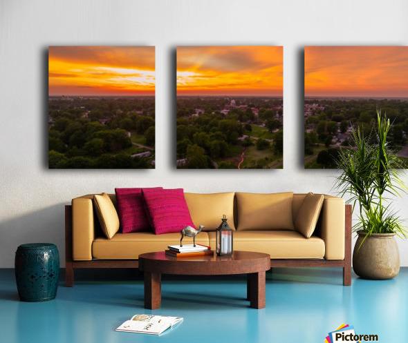 Rushville, IL Sunset Split Canvas print