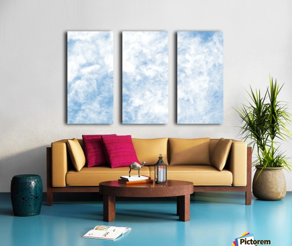 Wispy White Cloud. Split Canvas print