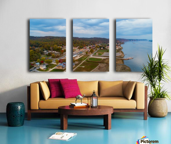 Grafton, IL City Split Canvas print