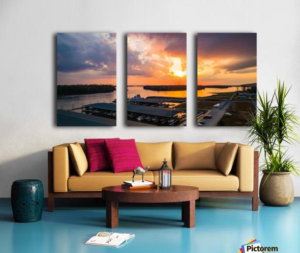 Grafton, IL Sunset Split Canvas print