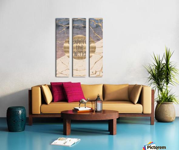 GRAPHIC ART Explore the world Split Canvas print