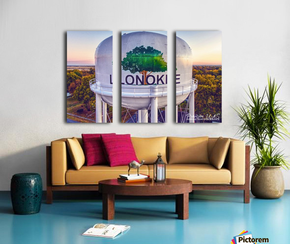 Lonoke, AR | Painted Water Tower 2017 Split Canvas print