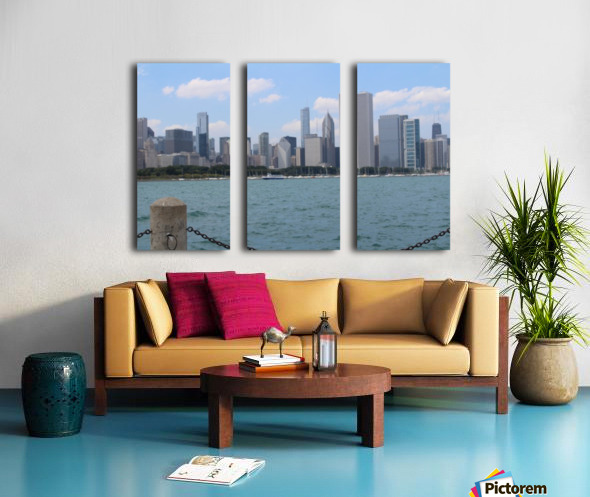 Chicago from the other side Split Canvas print