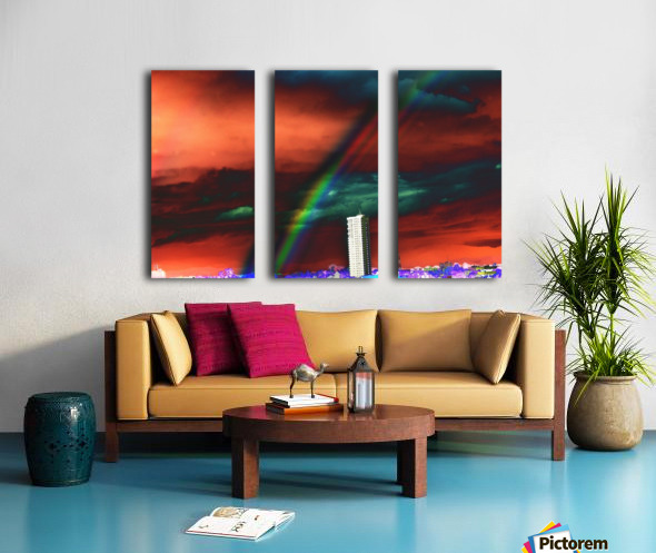 Rainbow. Split Canvas print