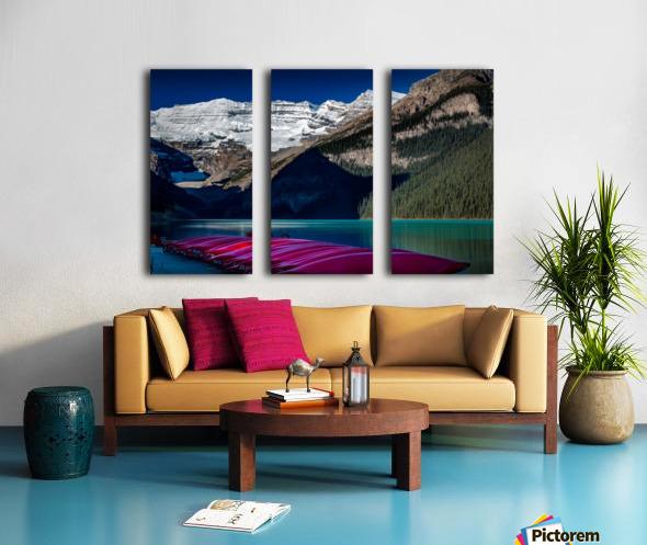 LakeLouiseCanoes Split Canvas print