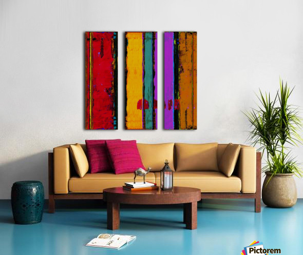 SIMPLY COMPLICATED Split Canvas print